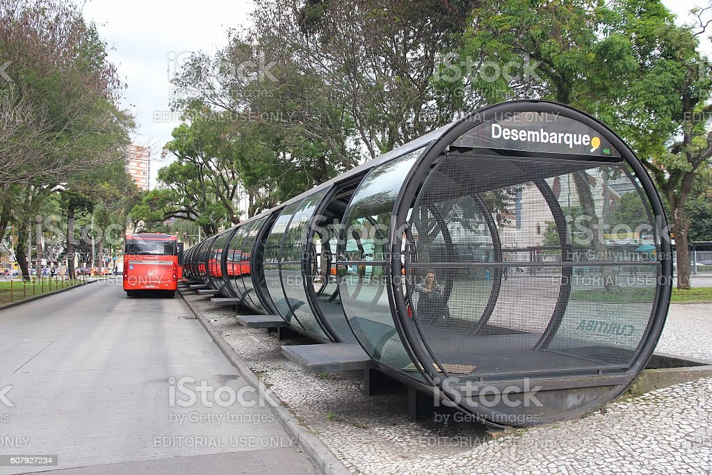City bus in Brazil stock photo