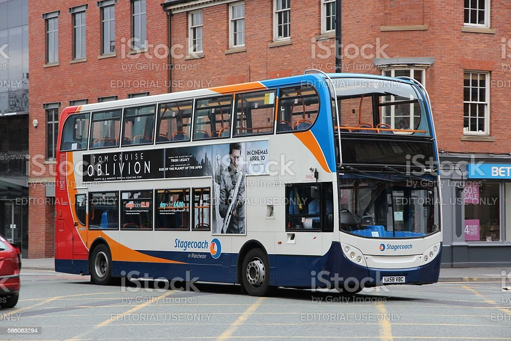 City bus in England stock photo