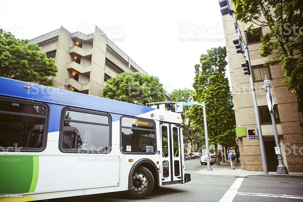 City Bus royalty-free stock photo