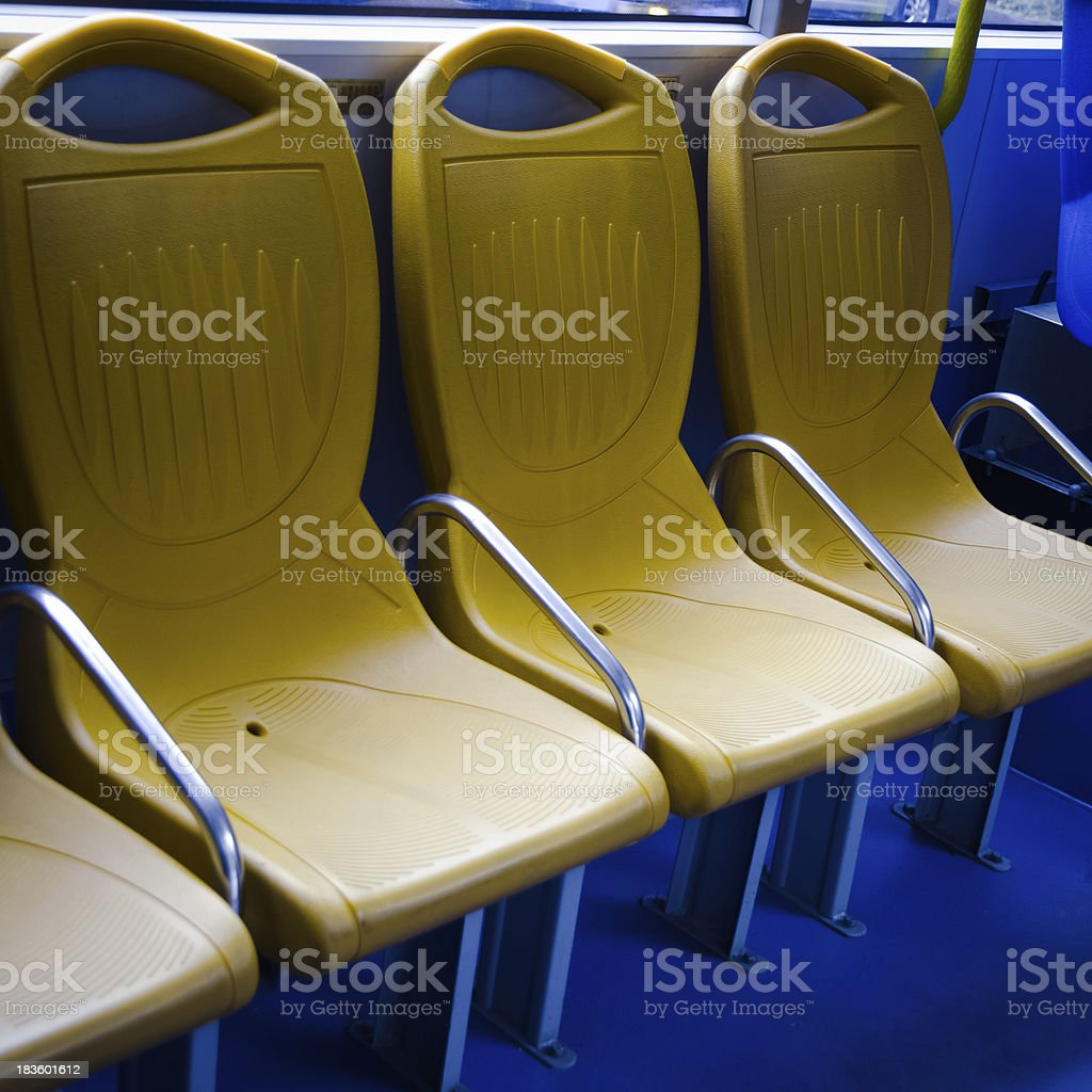 city bus seat royalty-free stock photo