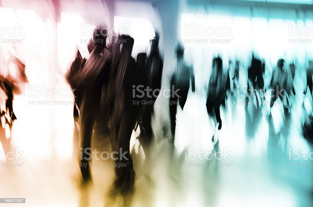 city business people abstract background royalty-free stock photo