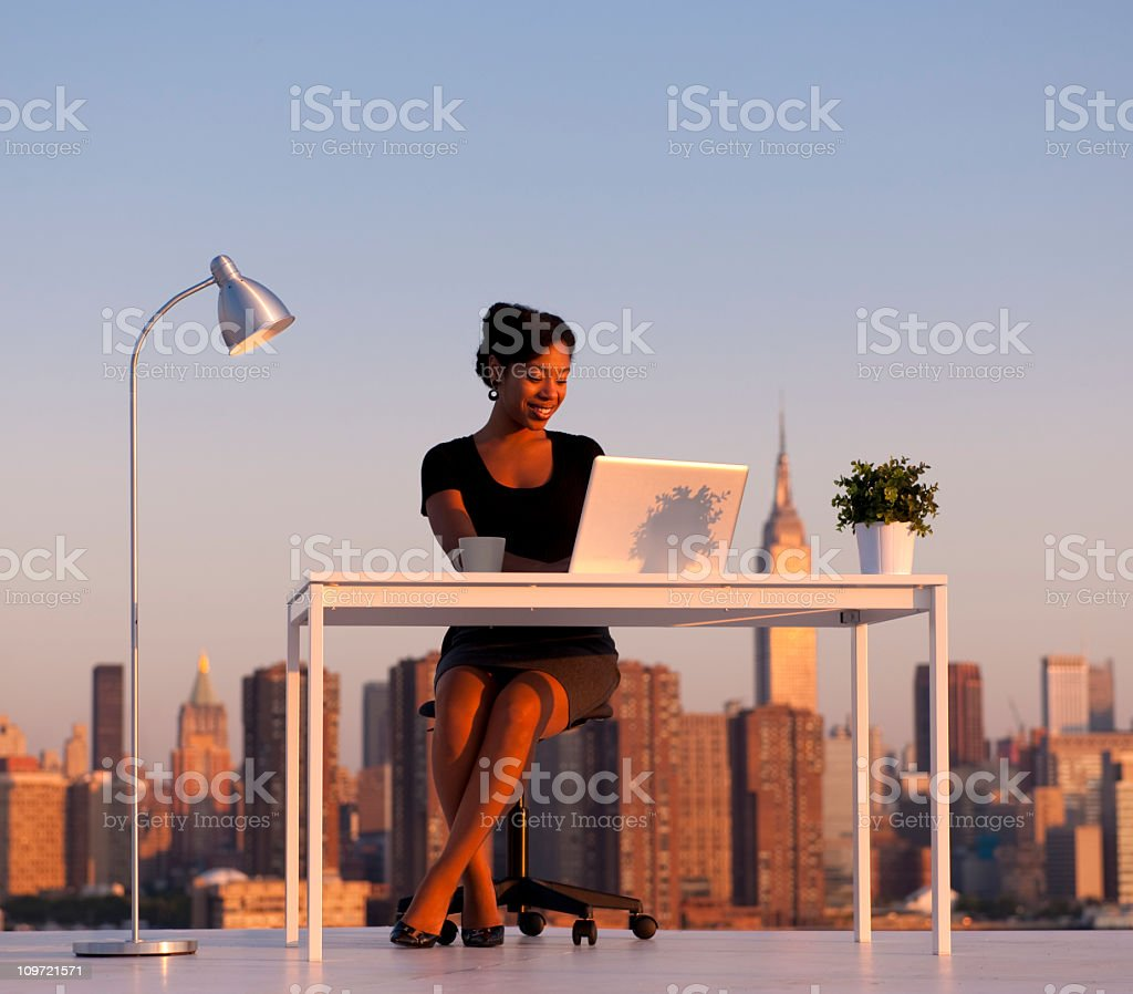 City Business Woman royalty-free stock photo