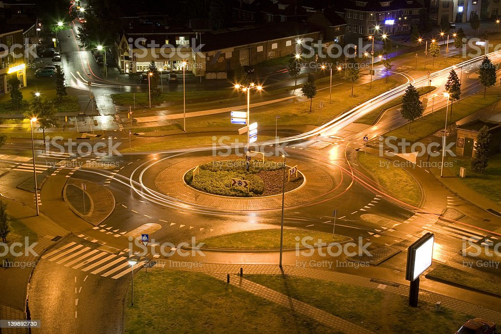 City by Night royalty-free stock photo