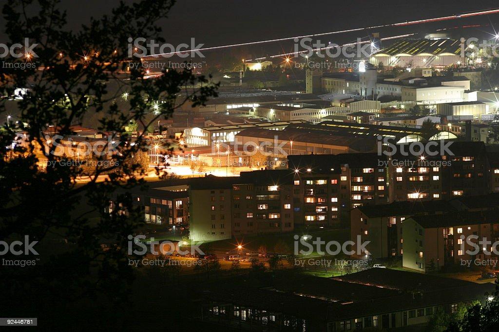 City by night royalty-free stock photo