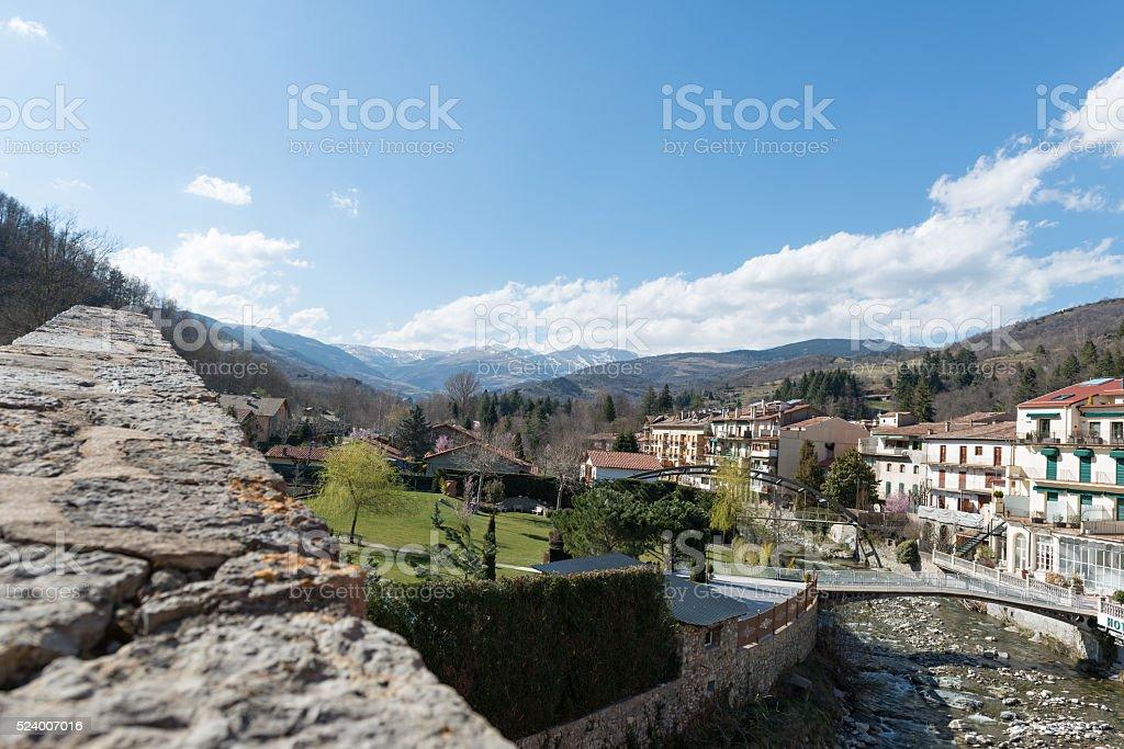 City Camprodon in Girona stock photo