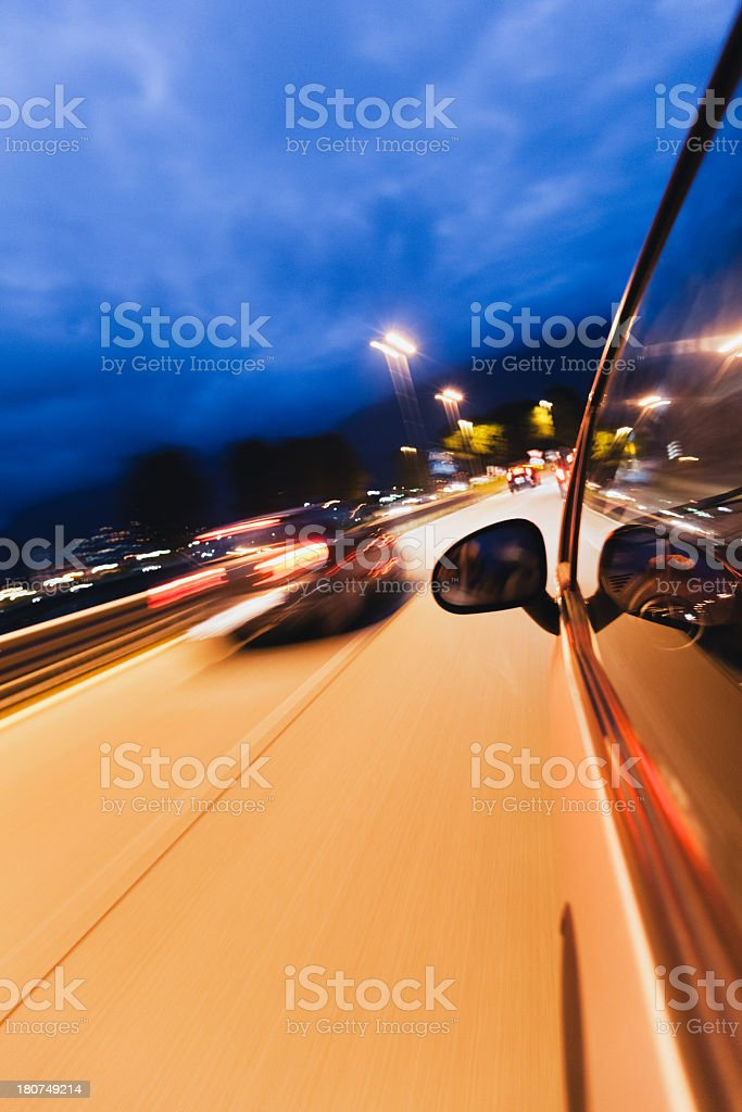 City Car at Night royalty-free stock photo