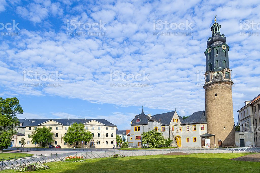 City Castle of Weimar in Germany stock photo