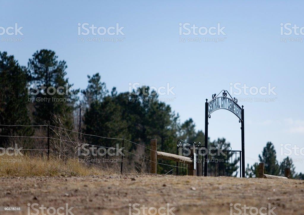 City Cemetery stock photo