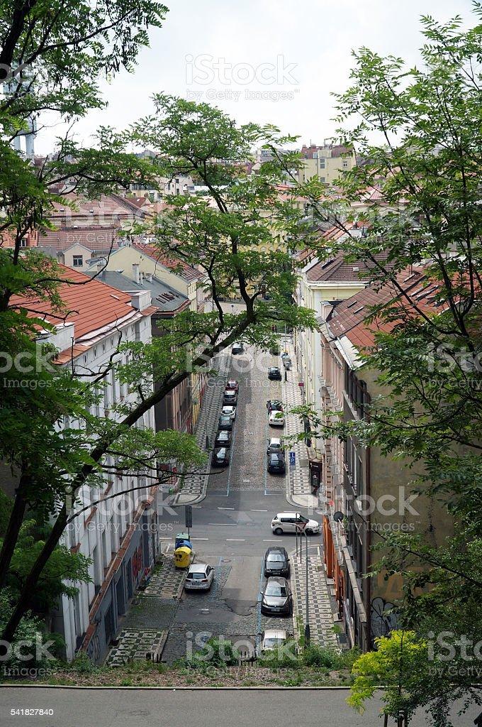 City cener of Prague stock photo