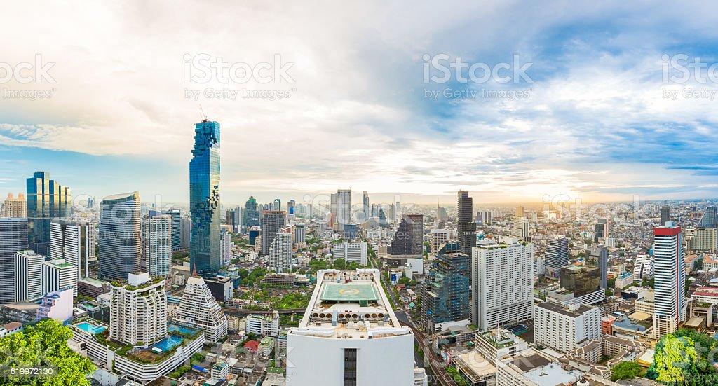City center at Bangkok, Thailand stock photo