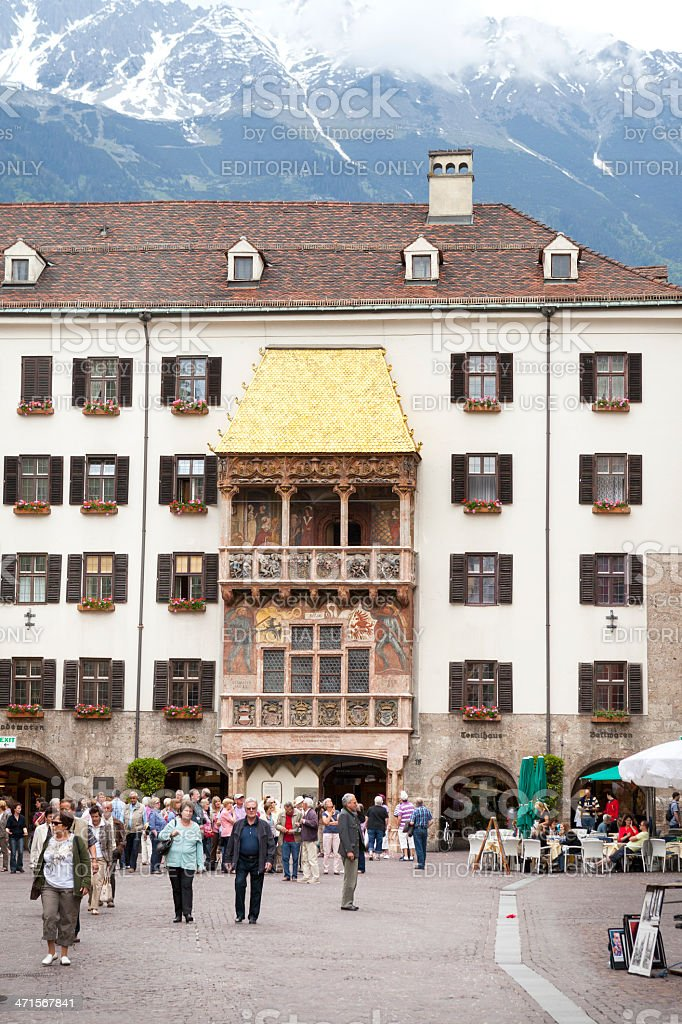 City center of Innsbruck, Golden Roof stock photo