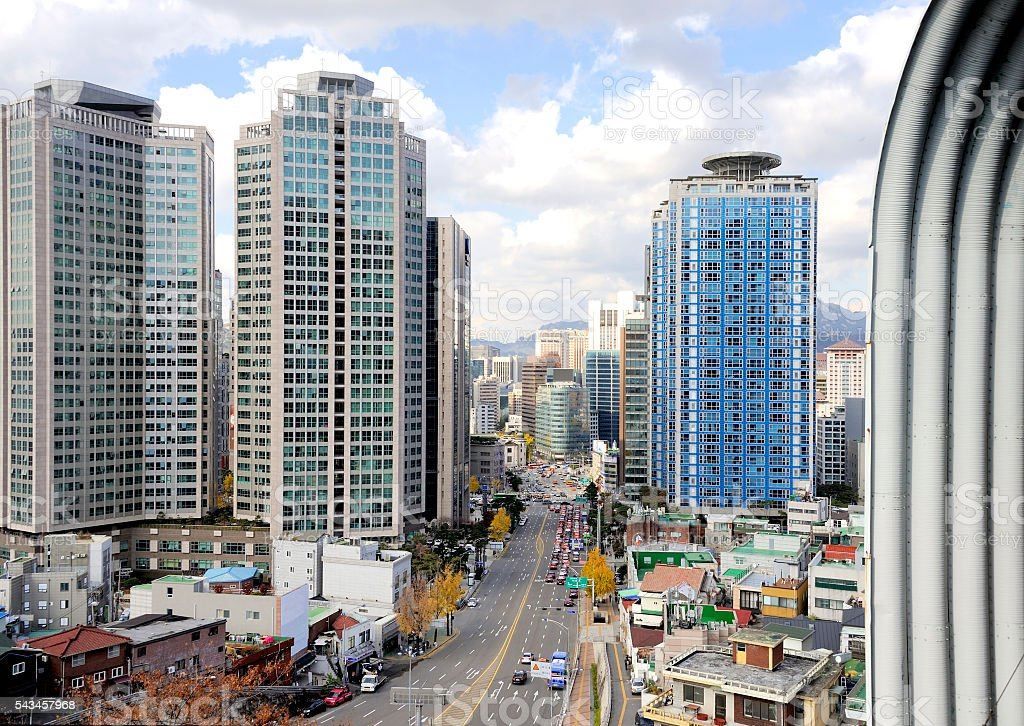 City Center of Seoul stock photo