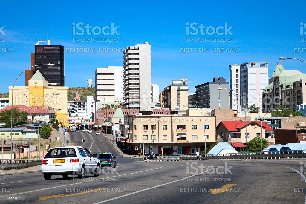 City center of Windhoek stock photo