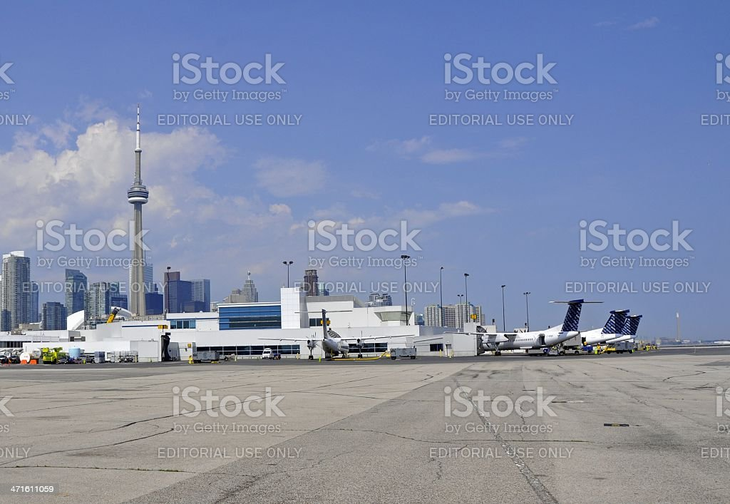 City Centre Airport royalty-free stock photo
