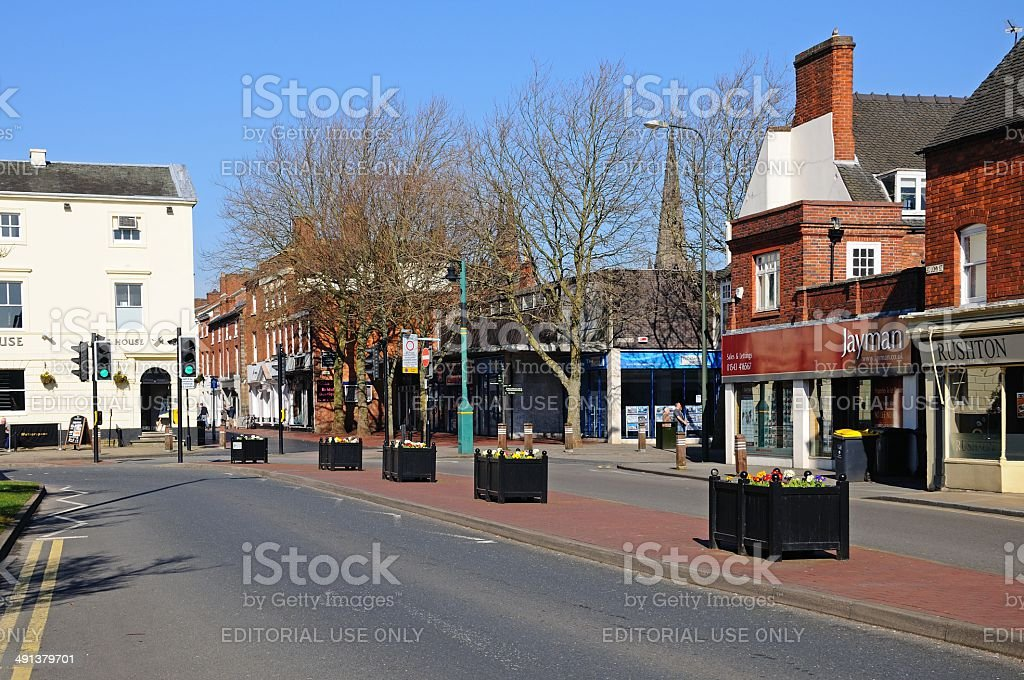 City centre, Lichfield, England. stock photo