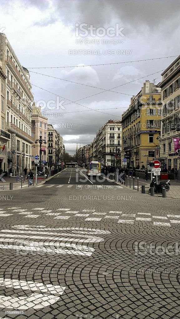 City centre, Marseille, France royalty-free stock photo