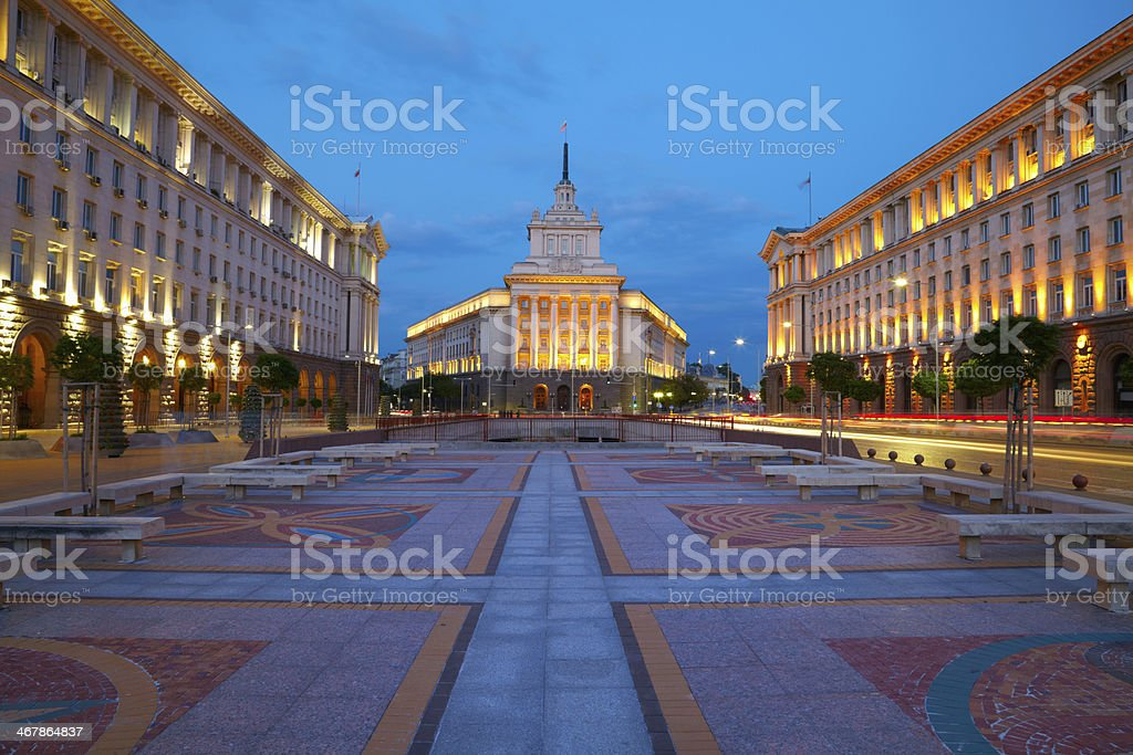City centre Sofia, capital of Bulgaria stock photo