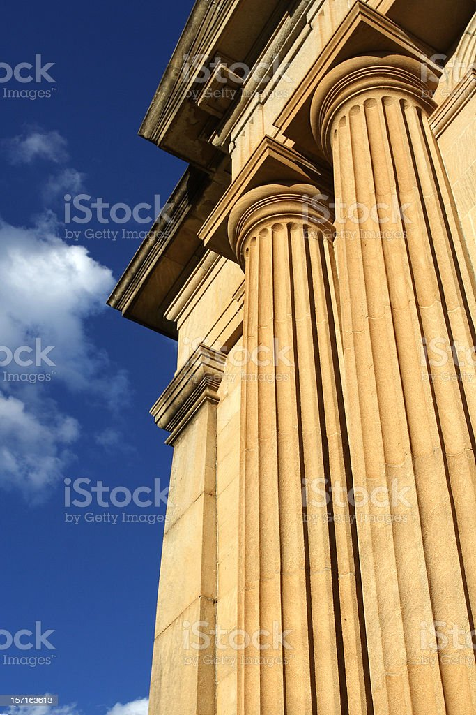 city columns royalty-free stock photo