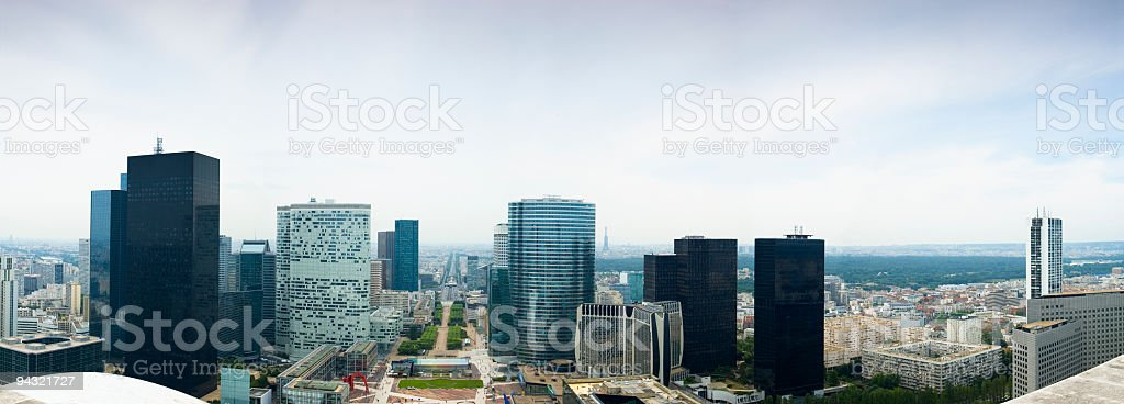 City commercial center royalty-free stock photo