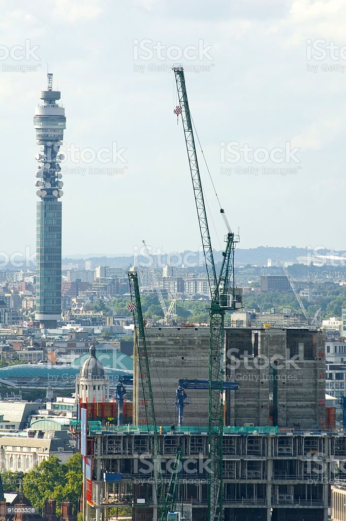 City construction, tall towers royalty-free stock photo