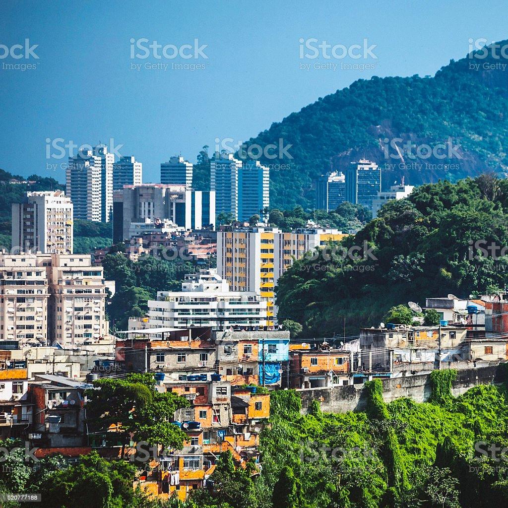 City contrasts, Rio de Janeiro. stock photo