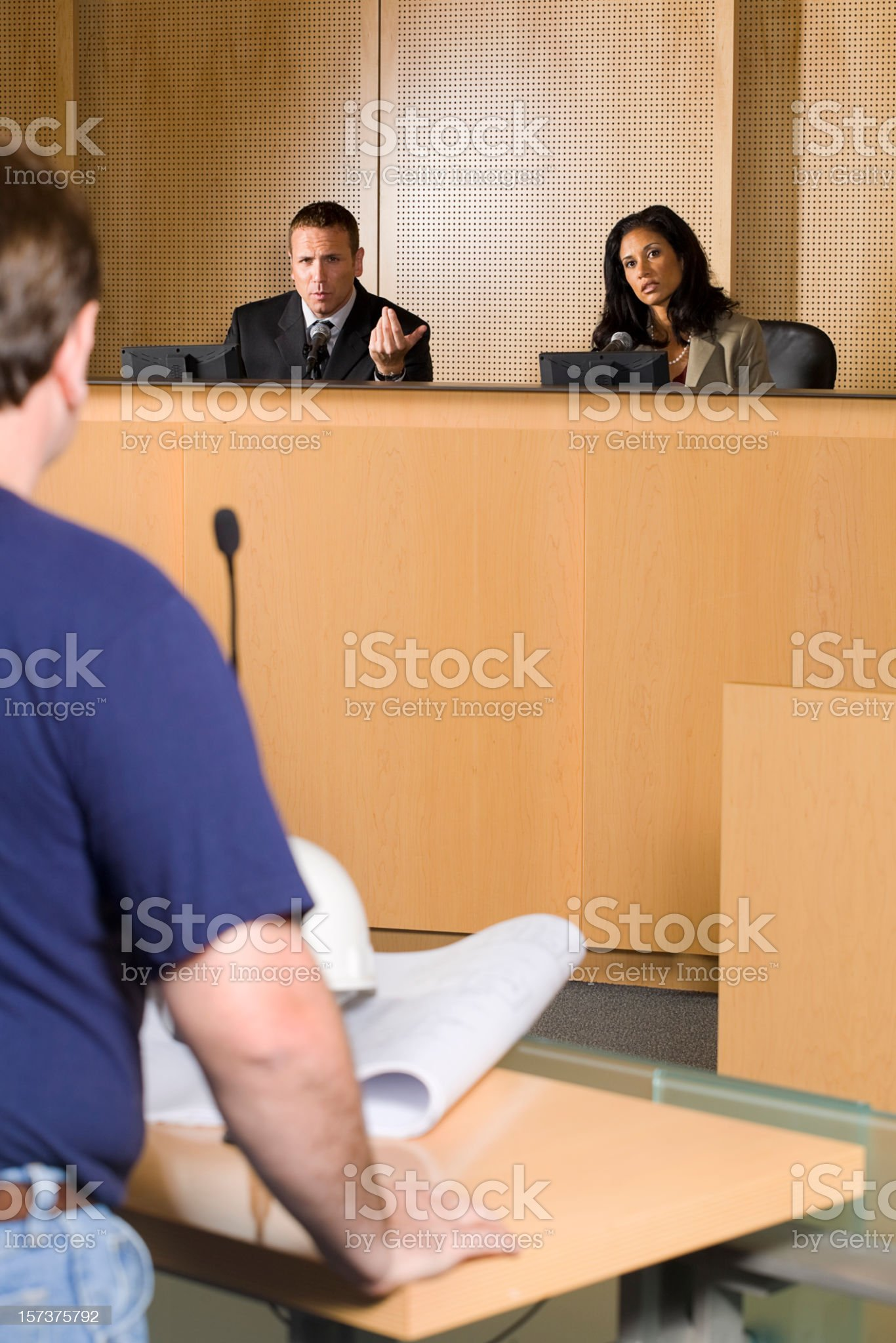 City Council Meeting royalty-free stock photo