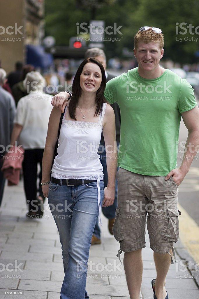 City couple royalty-free stock photo