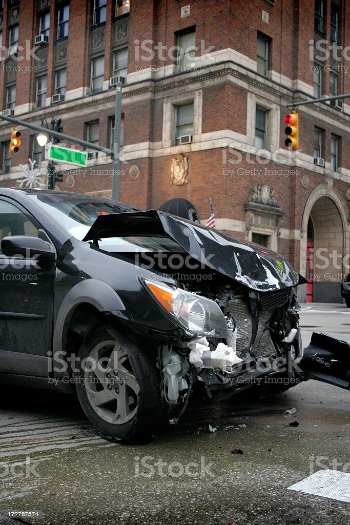 City Crash royalty-free stock photo