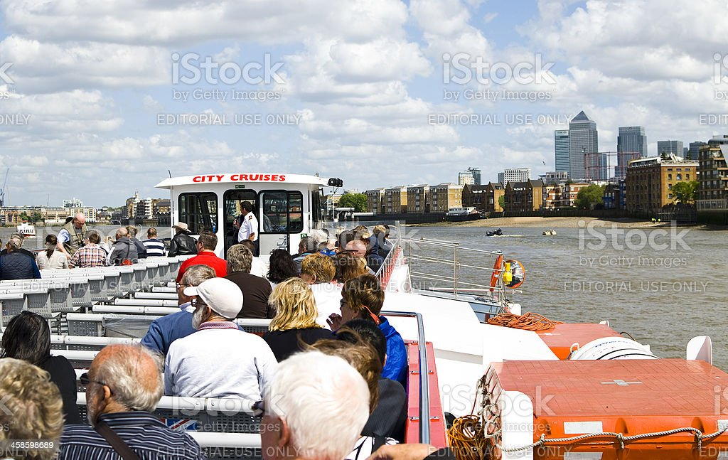 City Cruise London in the Thamse stock photo