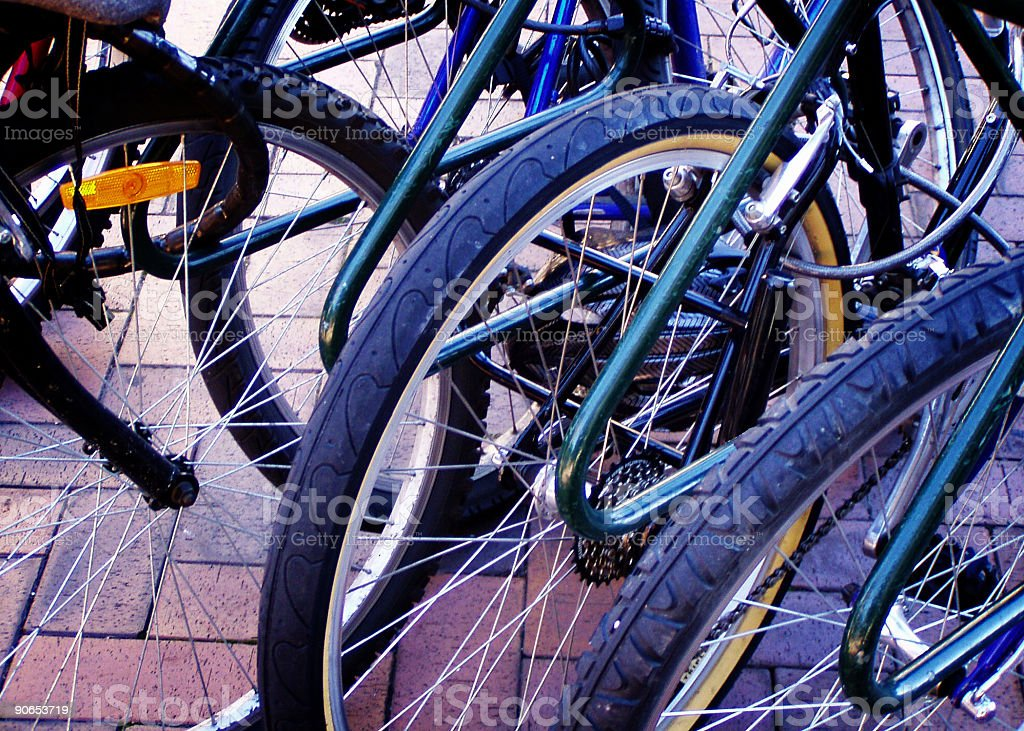 City Cycling royalty-free stock photo
