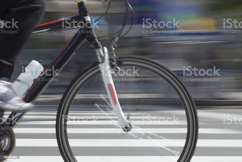 City Cyclist stock photo