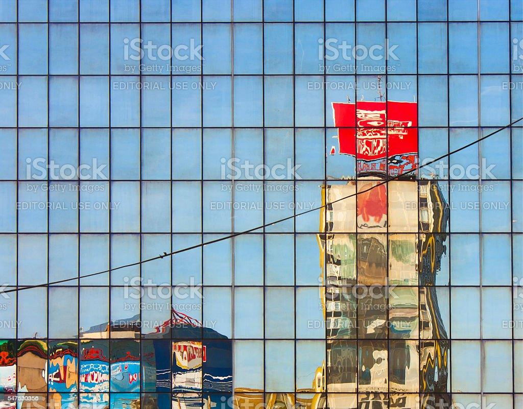 City disintegration 1 stock photo