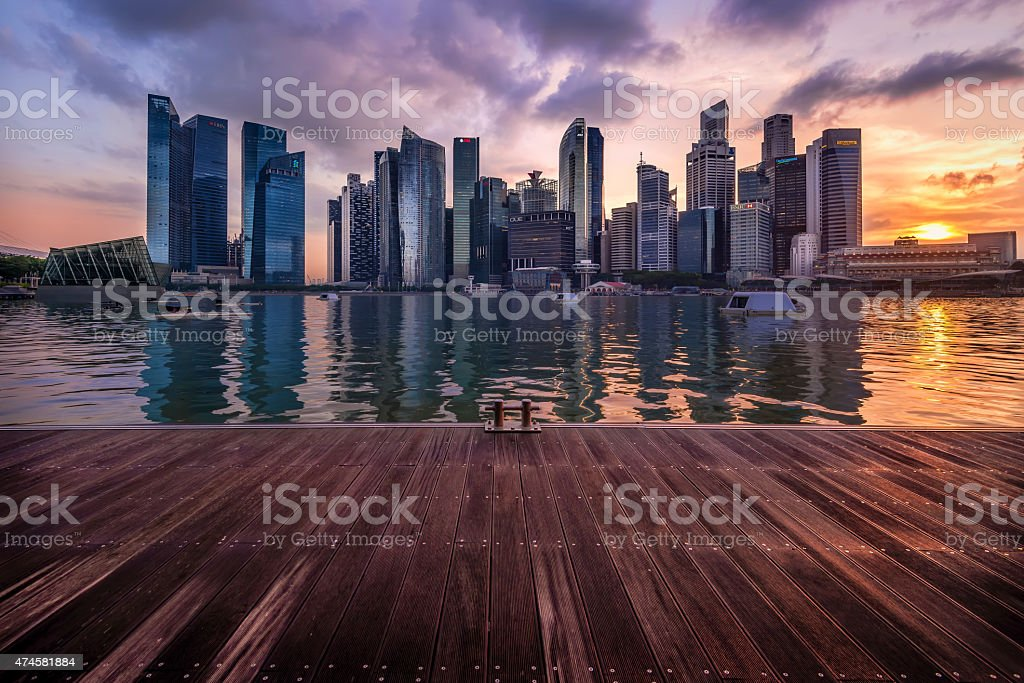 City Dock stock photo