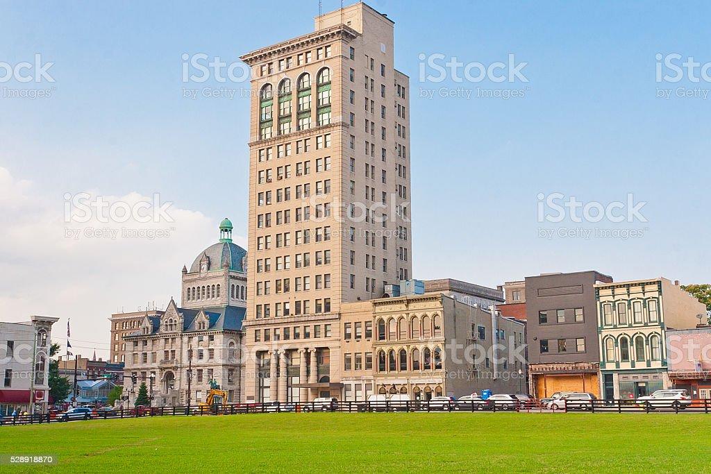 City downtown of Lexington, Kentucky, USA stock photo