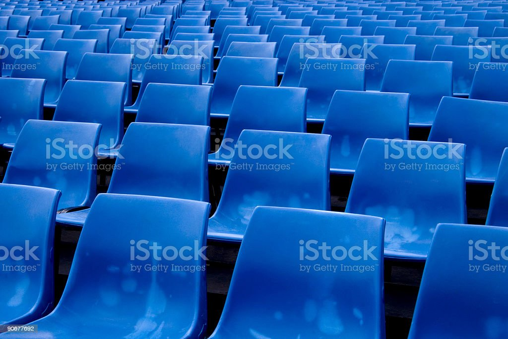 City - Empty Plastic Chairs royalty-free stock photo
