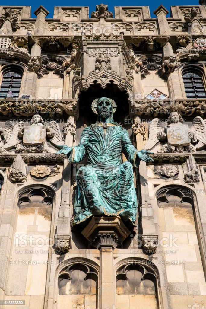 City Entrance to Canterbury Cathedral in Kent, UK stock photo