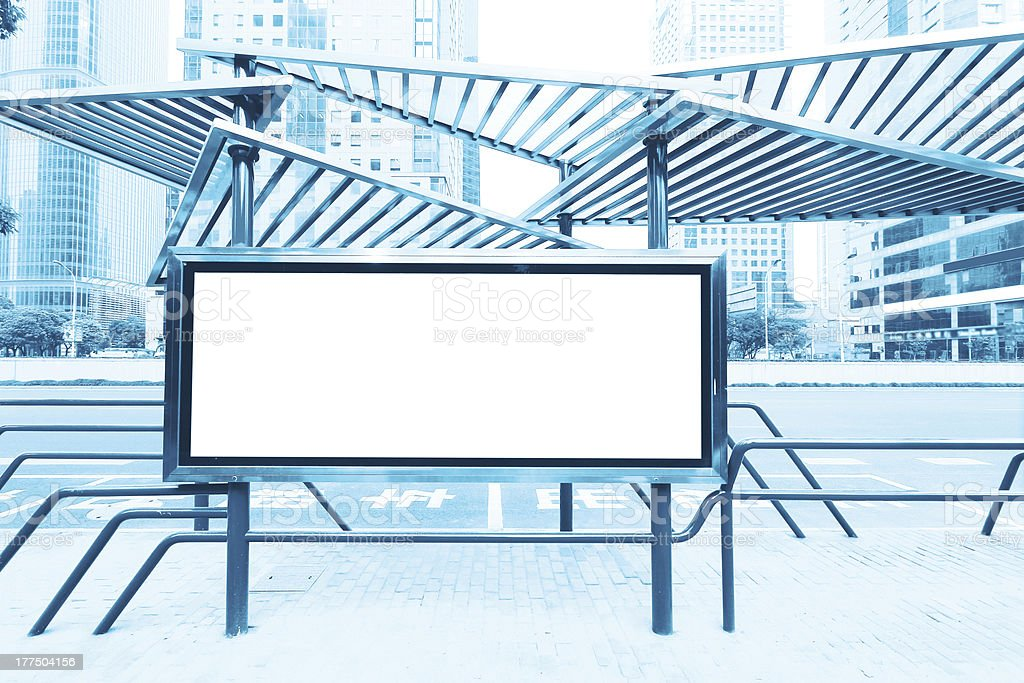 City Financial District, outdoor billboards stock photo