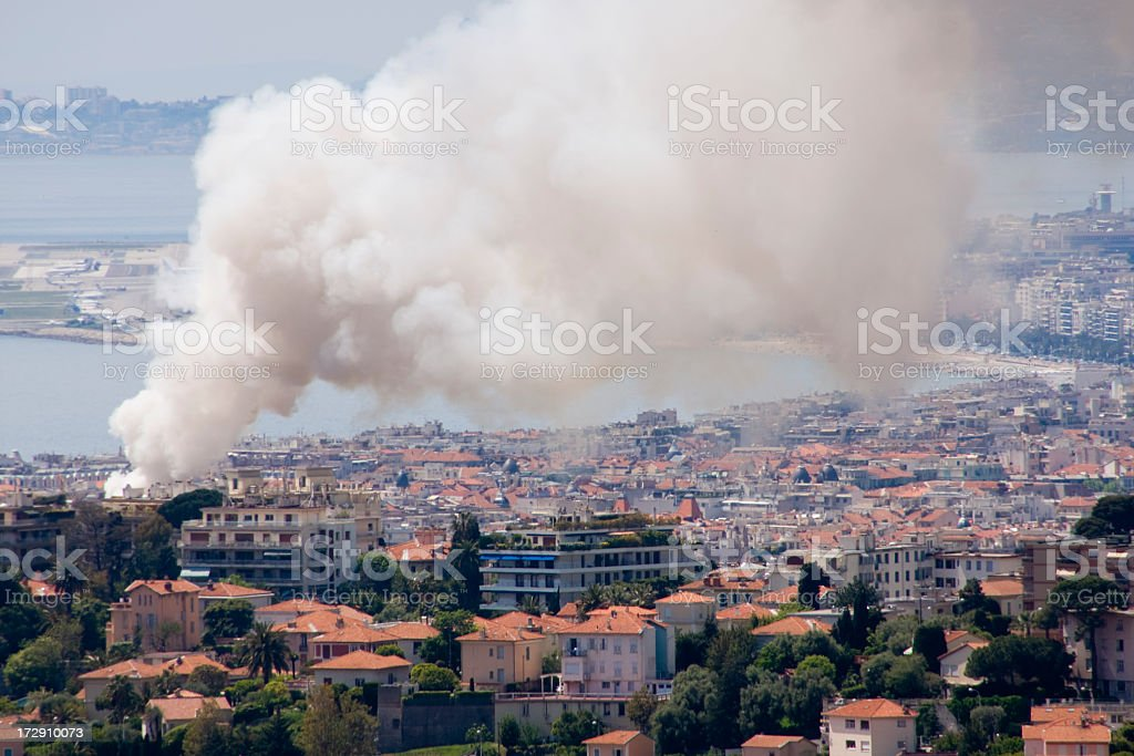 City Fire stock photo