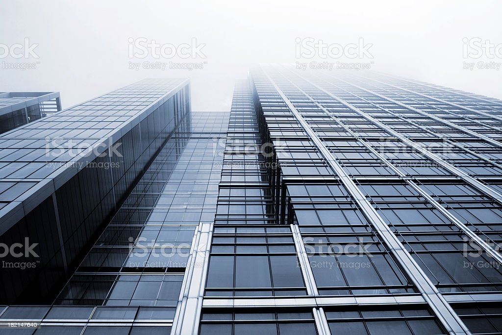 City fog royalty-free stock photo