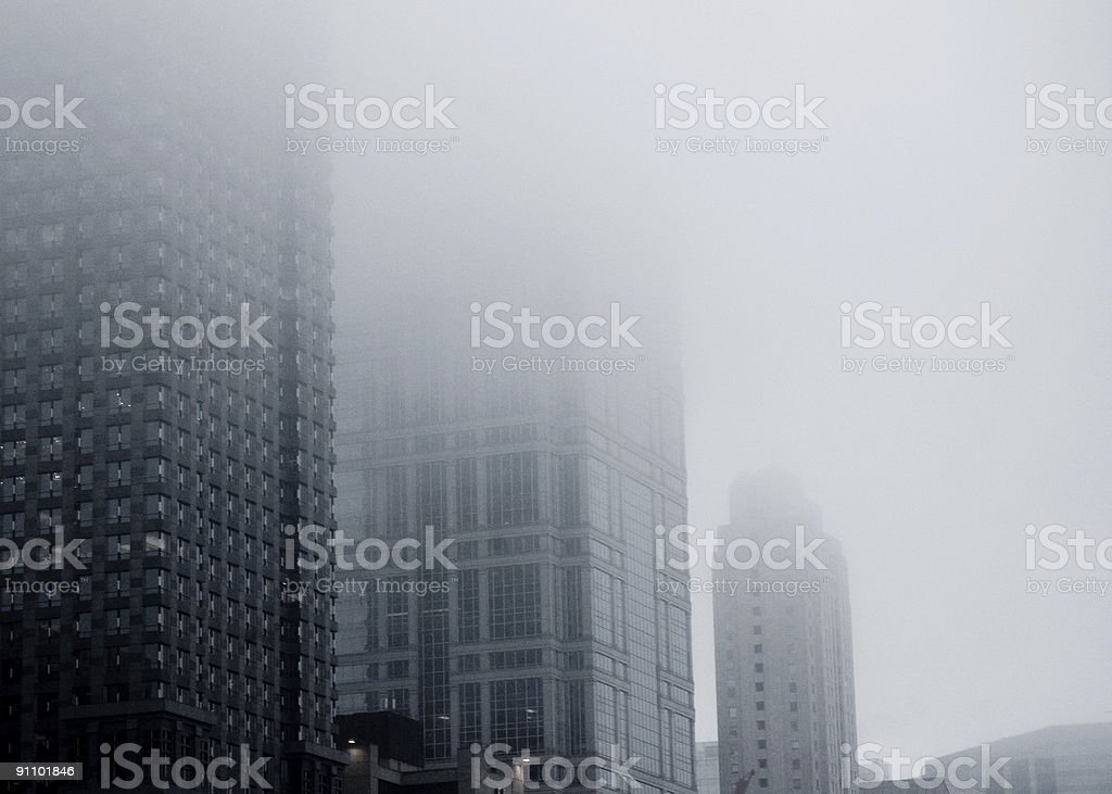 City Fog royalty-free stock photo