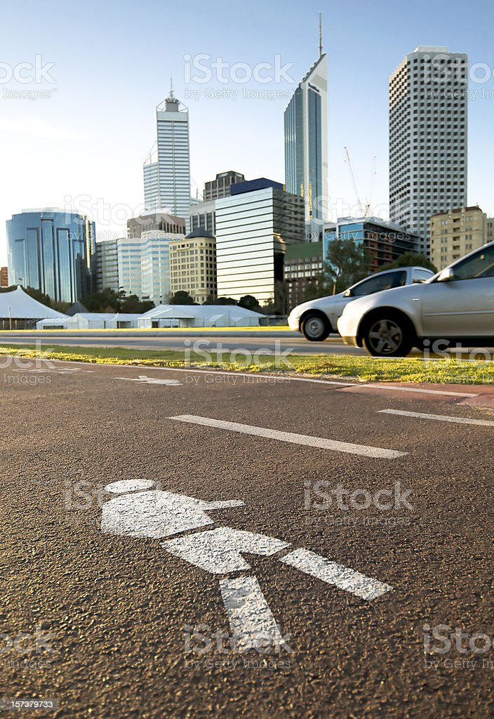 City Footpath royalty-free stock photo