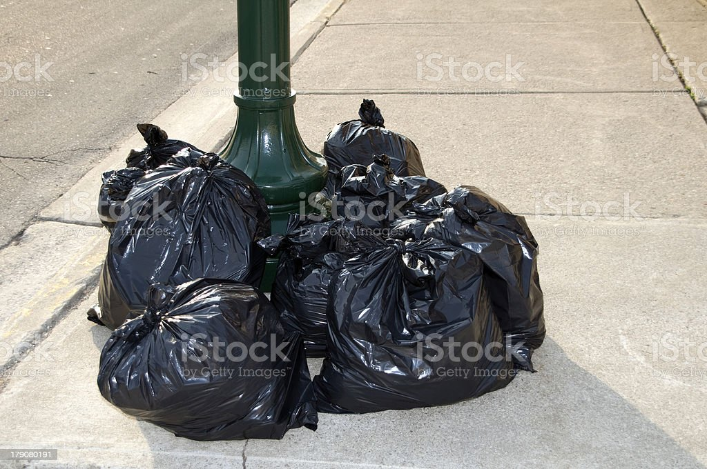 City Garbage royalty-free stock photo
