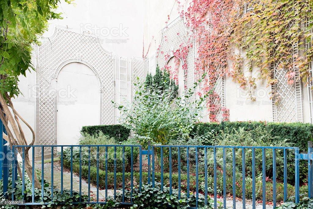 City Garden, Paris, France stock photo