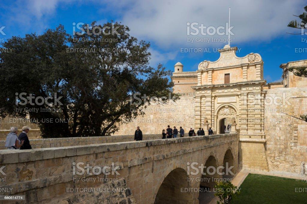 City Gate in Mdina, City in Malta stock photo