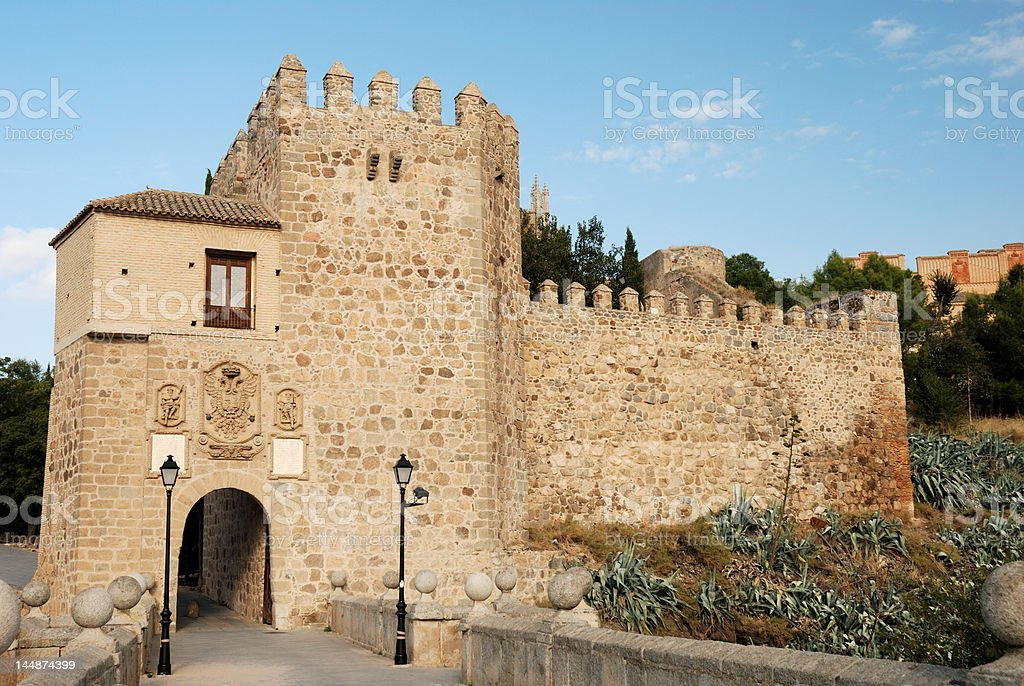 City Gate in Toledo royalty-free stock photo
