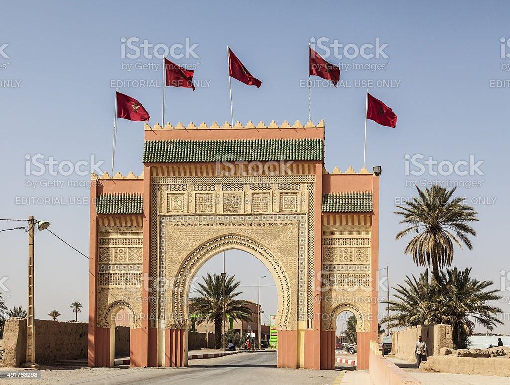 City Gate, Rissani,  Er-Rachidia, Morocco stock photo