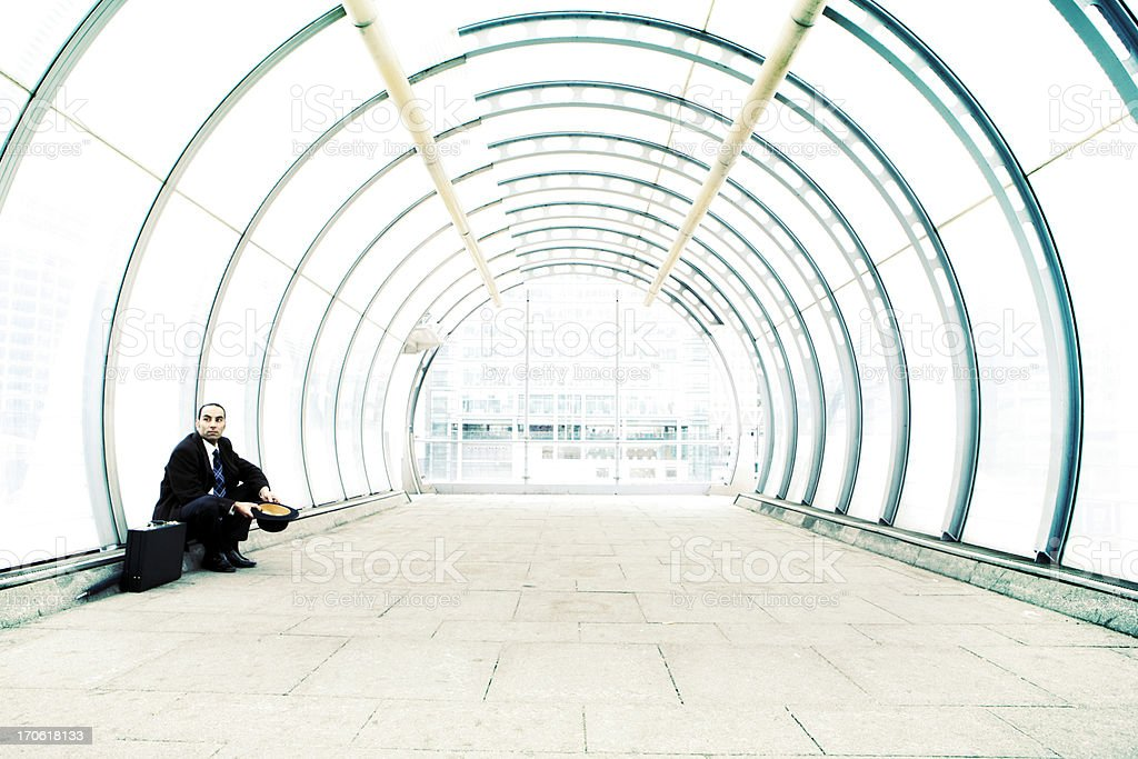 city gent: cold recession royalty-free stock photo