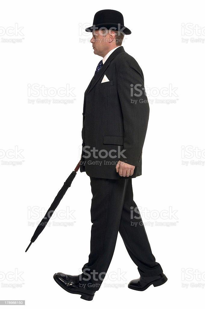 City gent walking stock photo