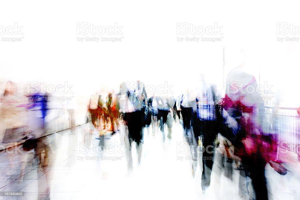 City ghosts stock photo