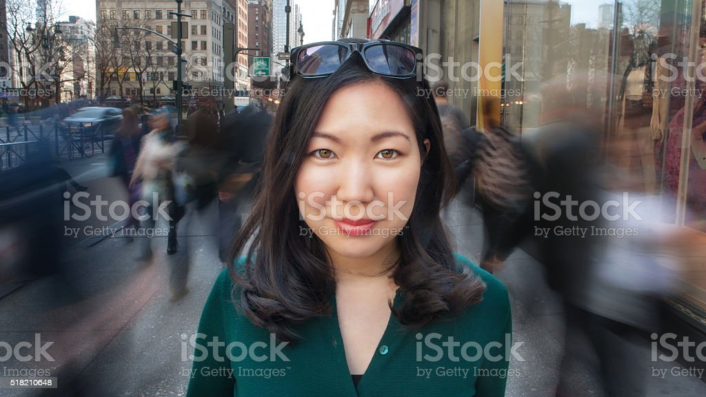 City girl portrait stock photo